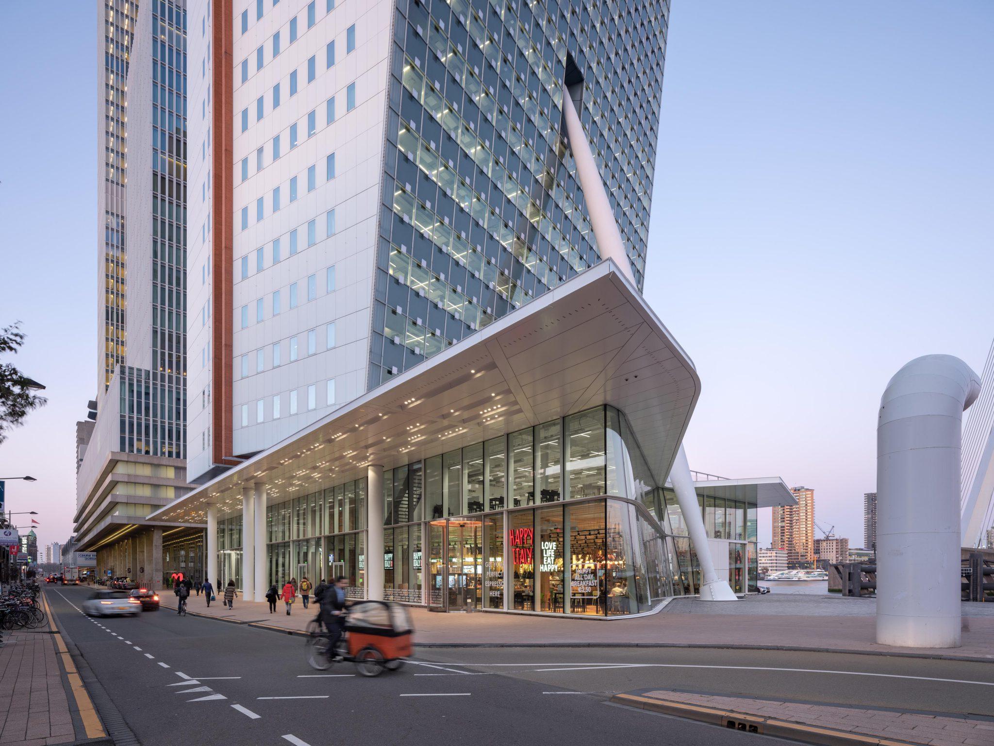 KPN toren, plint, Rotterdam, Zuid, wilhelminapier