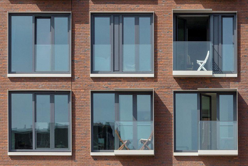 detail van de dag, balkons, afwatering