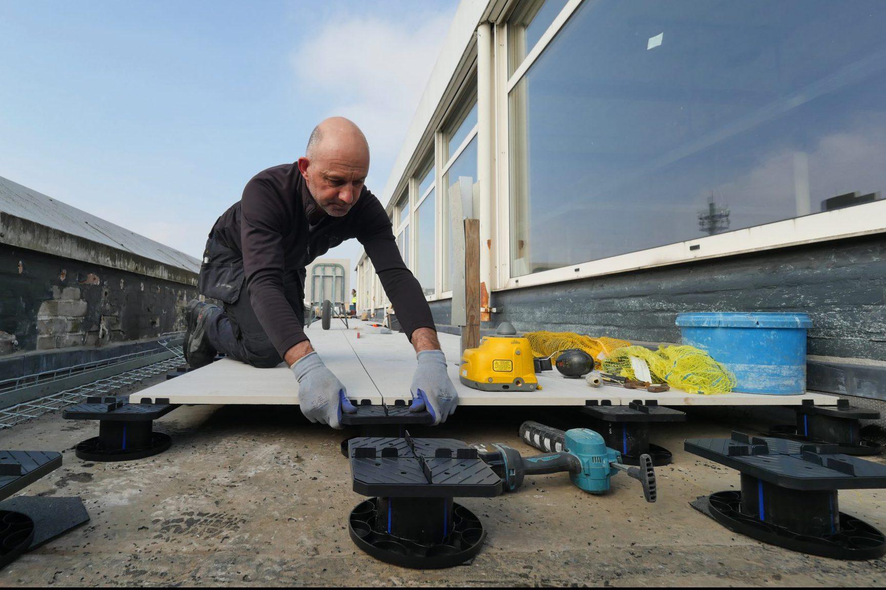 Designvloer Dreen® Ceramica voor 'unieke rooftopbar'