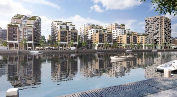 Caland Dock aan de Laakhaven telt 9 tot 12 verdiepingen