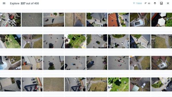 Een drone-opname uitgesplitst in HR-beelden.