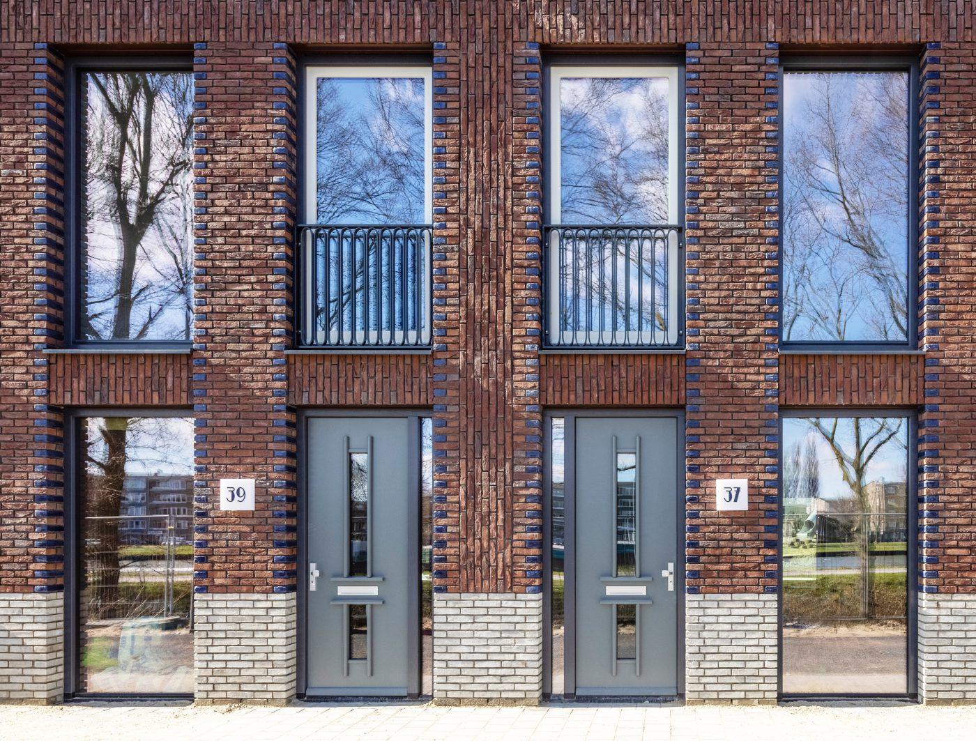 Gedetailleerd metselwerk voor stadswoningen Leidsche Rijn
