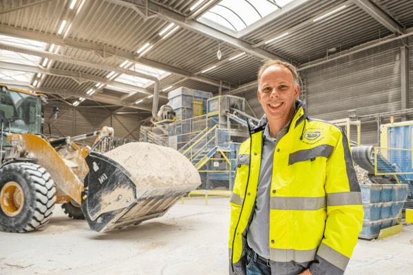 Maarten Hendriks, managing director bij New West Gypsum Recycling.
