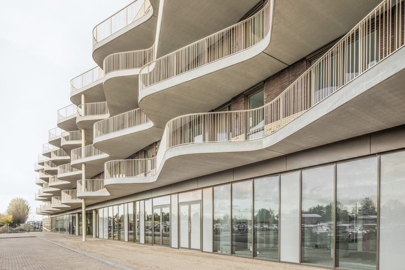 Golvende balkons karakteriseren appartementen Westerschans 1B