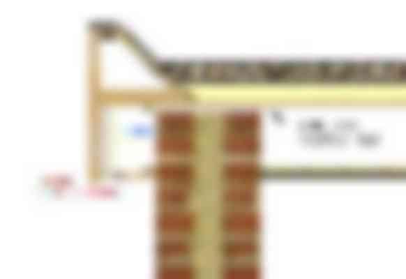 De principedetaillering van de dakrand. Doordat de onderplaat en de boeiboorden stuikend zijn aangebracht, blijft het condensvocht langdurig op de (onafgewerkte) achterzijde van de beplating aanwezig.